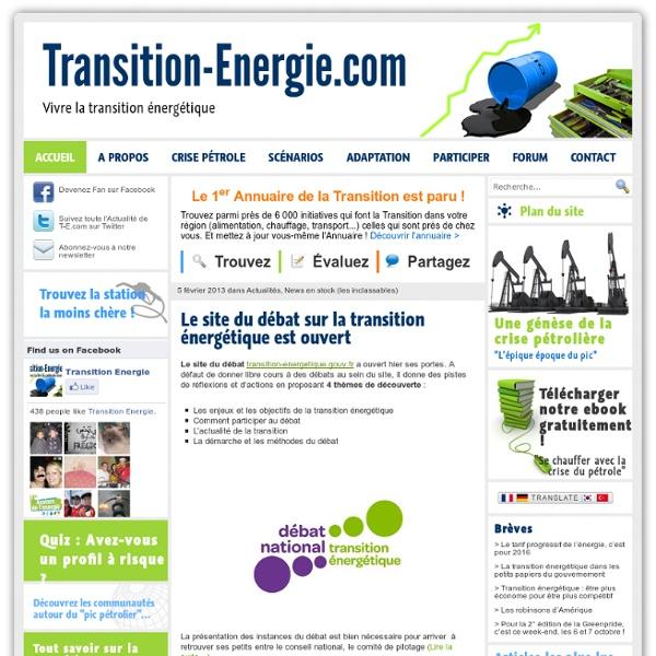 Transition énergie : Vivre avec la fin du pétrole bon marché