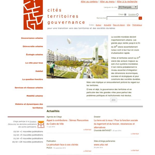 Ressources sur les territoires et la ville