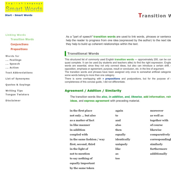 Transitions For Quotes In Essays