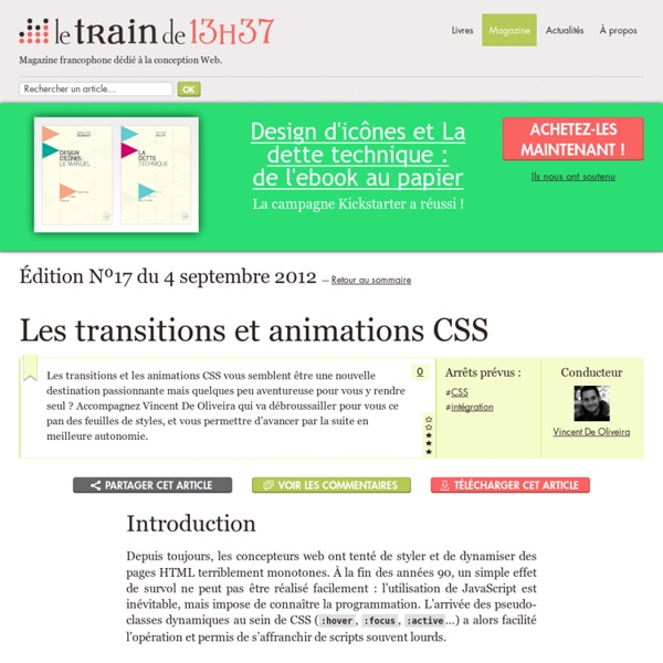 Les transitions et animations CSS