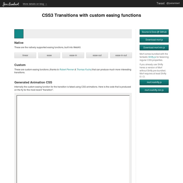 Morf.js - CSS3 Transitions with custom easing functions