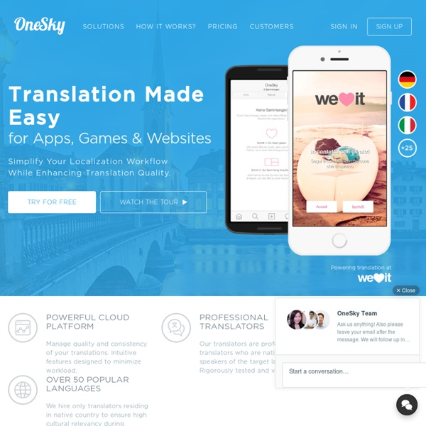 OneSky: Translation made easy