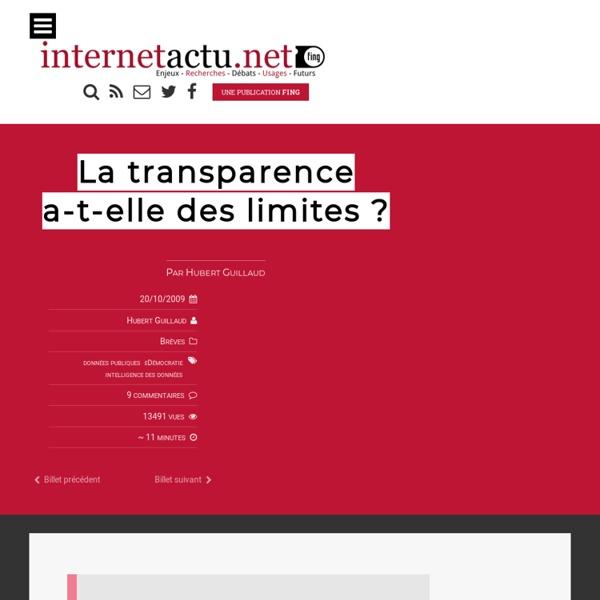 La transparence a-t-elle des limites ?