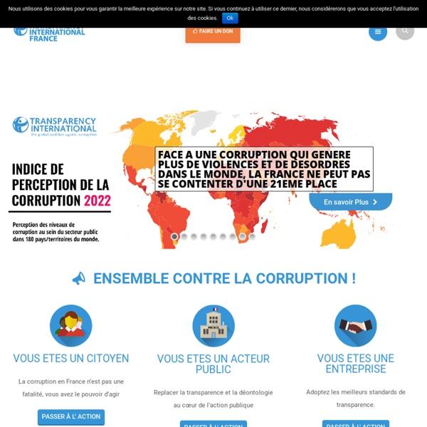 Transparency International France - Transparency International France contre la corruption