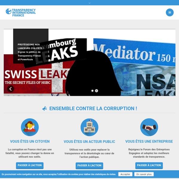 Transparence International France - Agir contre la corruption