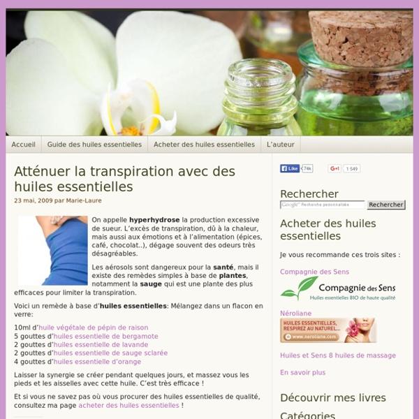 La transpiration excessive peut être atténuée par un remède naturel