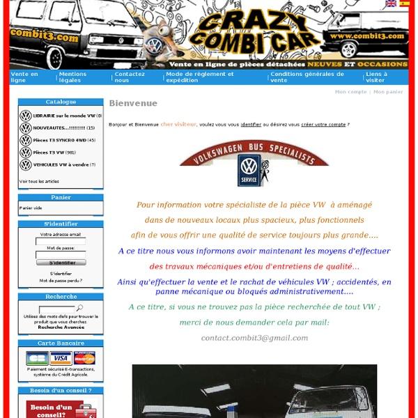 Vente de pièces neuves et occasions pour combi transporter t3 t25 VW Volkswagen ~ Vente en ligne