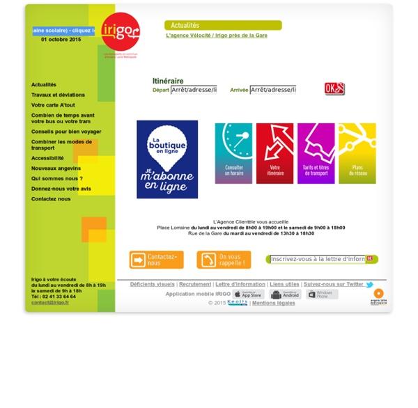 Irigo.fr : site officiel des transports en commun de l'agglomération d'Angers
