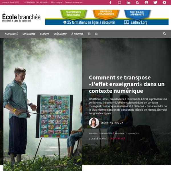 Comment se transpose «l'effet enseignant» dans un contexte numérique