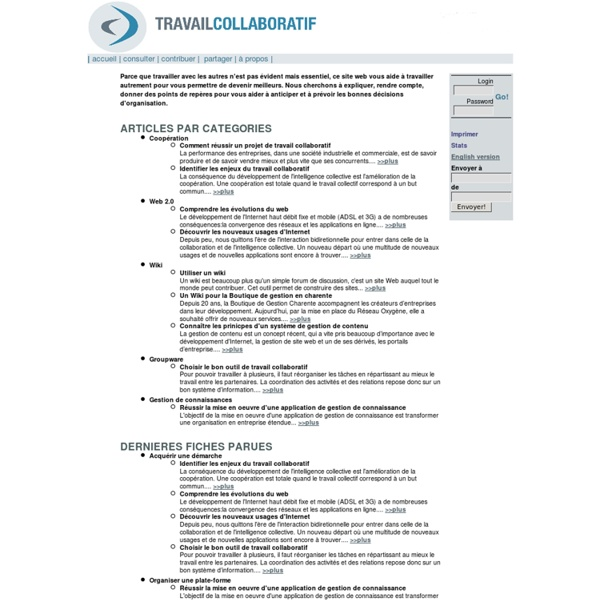Travail collaboratif [Accueil]