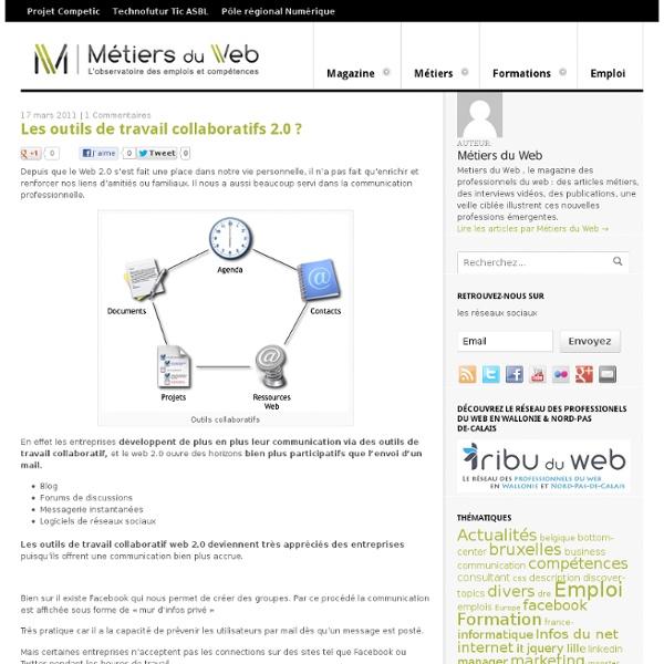 Les outils de travail collaboratifs 2.0 ?