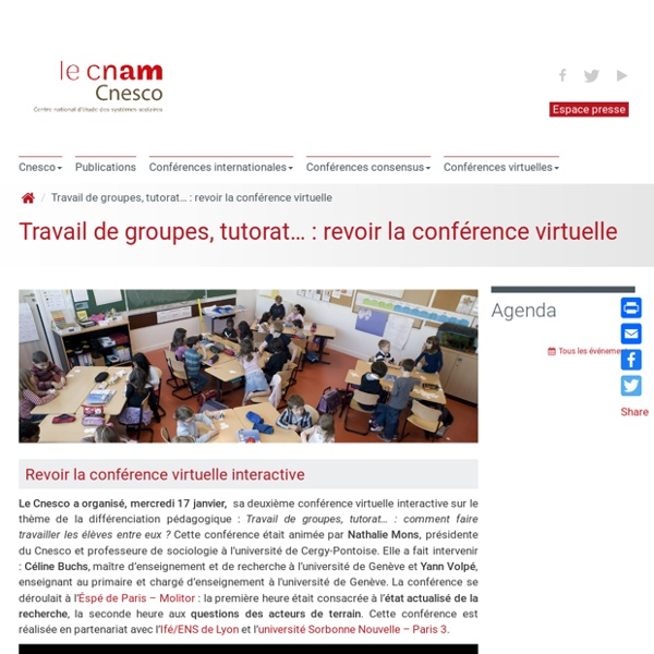Inscriptions : conférence virtuelle différenciation pédagogique