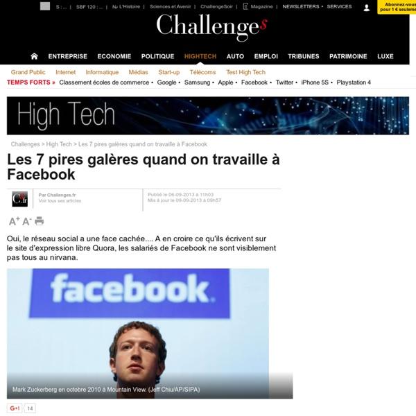 Les 7 pires galères quand on travaille à Facebook