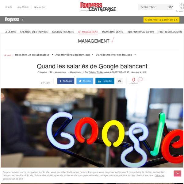 6. Travailler chez google n'offre pas que des avantages (2 oct. 2015)