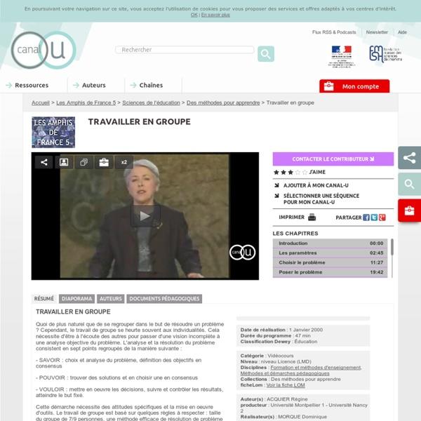 Travailler en groupe - Les Amphis de France 5