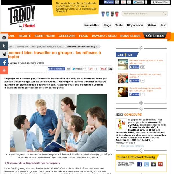 Myself & Co : Comment bien travailler en groupe : les réflexes à adopter - L'Etudiant Trendy
