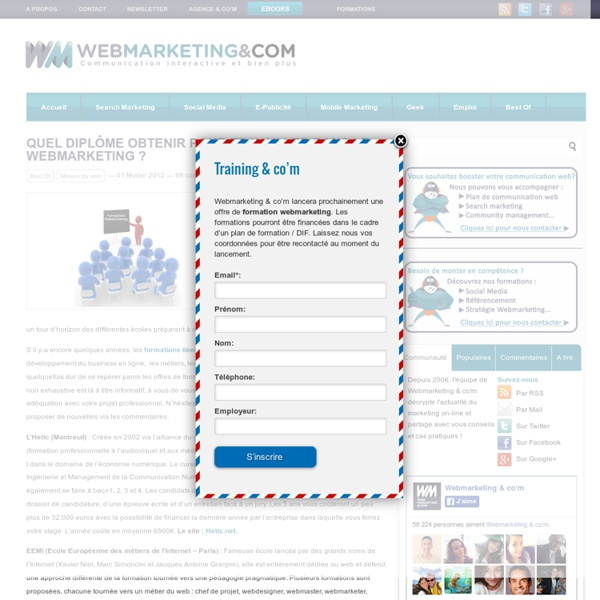 diplome webmarketing