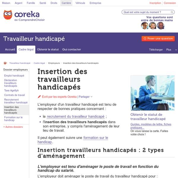 Insertion des travailleurs handicapés : aménagements et aides
