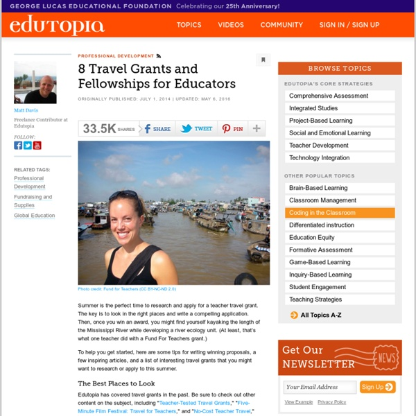 8 Travel Grants and Fellowships for Educators