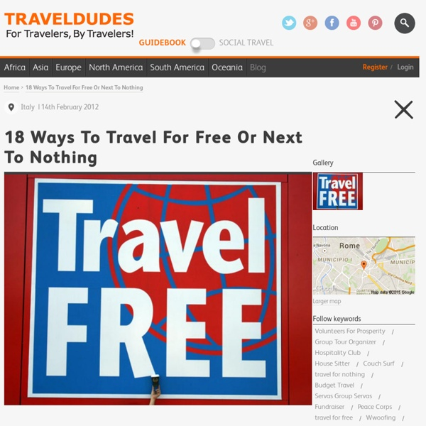 18 Ways To Travel For Free Or Next To Nothing