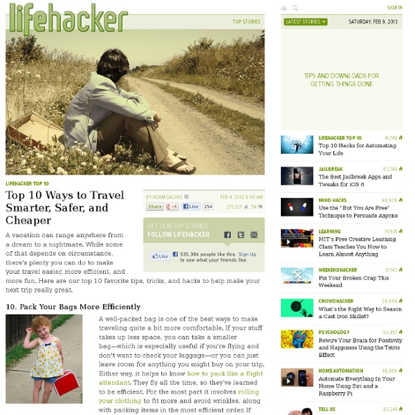 Packing News, Videos, Reviews and Gossip - Lifehacker