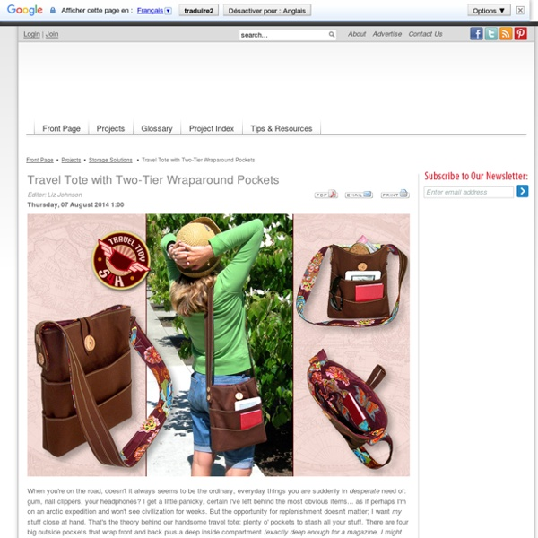 Travel Accessories: Plenty of Pockets Tote - Sew4Home