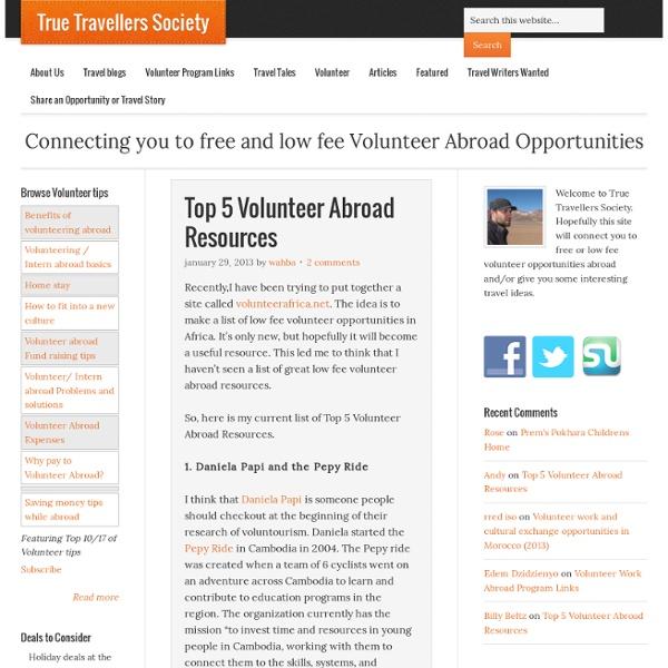 Free International Volunteer Work Abroad Programs