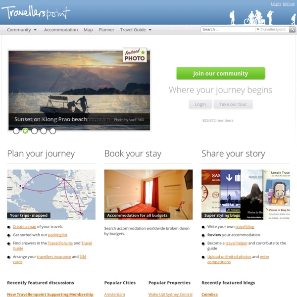 Travellerspoint Travel Community