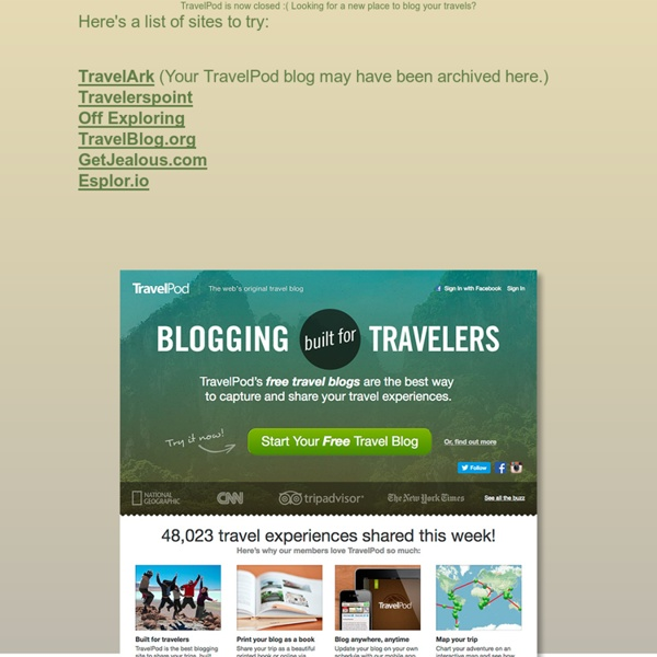 Travel Blog on TravelPod: Because your memories deserve it