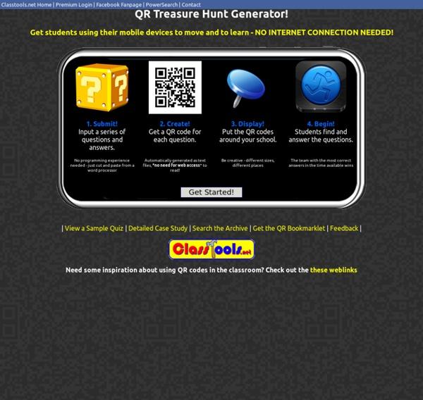 QR Code Treasure Hunt Generator from classtools.net