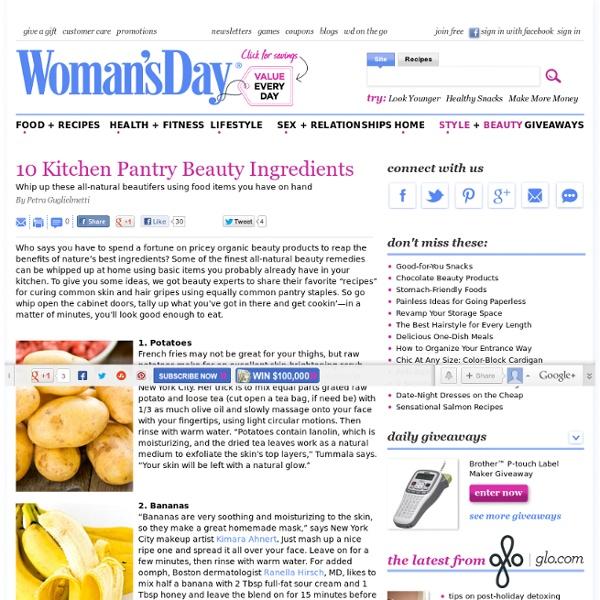 Home Spa Recipe Treatments - Natural Beauty Recipes at WomansDay