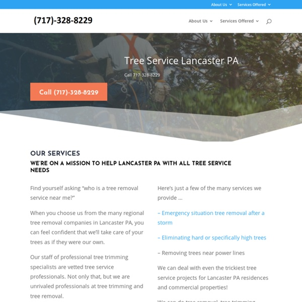 Tree Service Lancaster PA - Call 717-328-8829 - Tree Service Lancaster