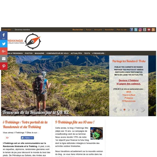 I-Trekkings, Carnets de Trekking et Grande Randonnée, Photos, vidéos, Test matos, Forum et Actualités