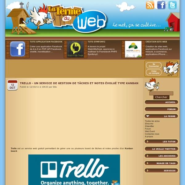 Trello - Un service de gestion de tâches et notes évolué type kanban