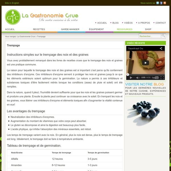 Instructions simples sur le trempage des noix et des graines