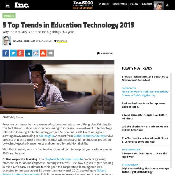 5 Top Trends in Education Technology 2015