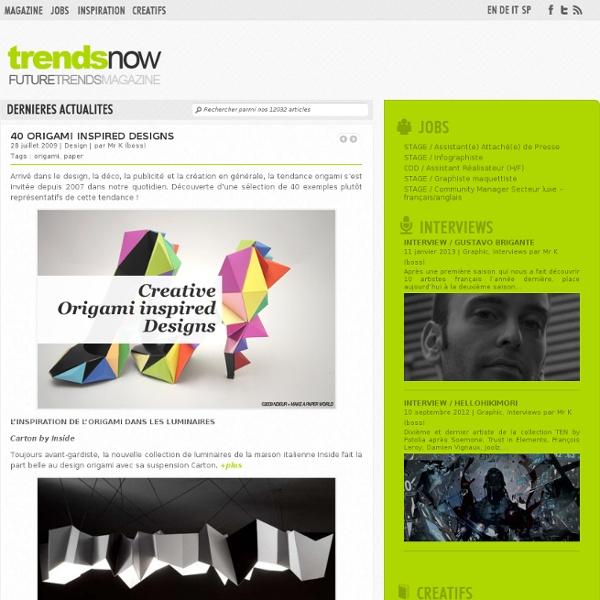 40 Origami Inspired Designs