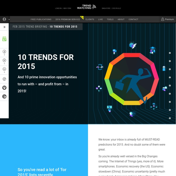 10 TRENDS FOR 2015