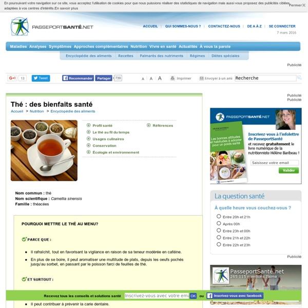 Le thé : une très bonne source d'antioxydants