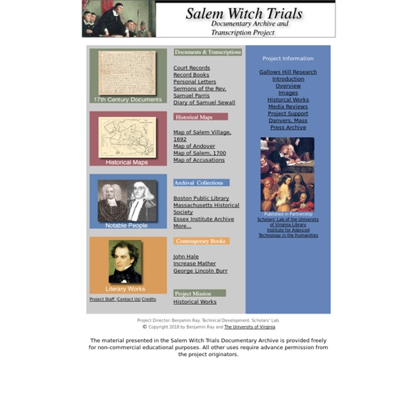 Salem Witch Trials Documentary Archive