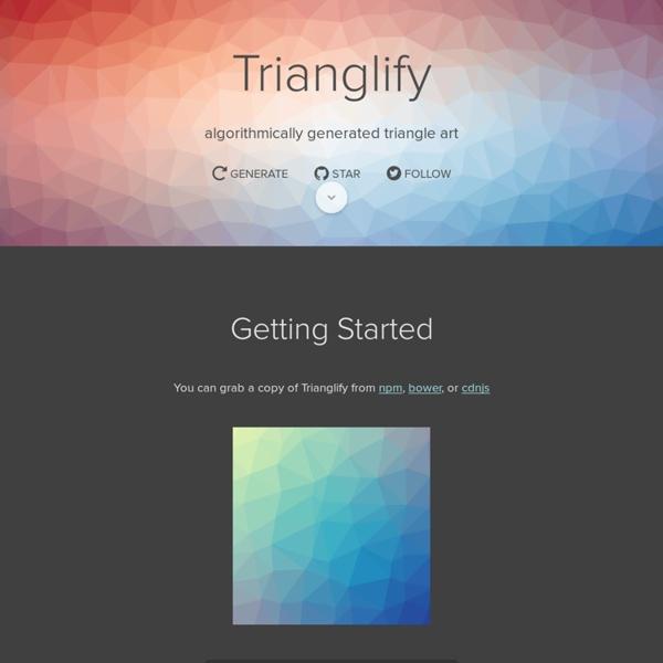 Trianglify by @qrohlf
