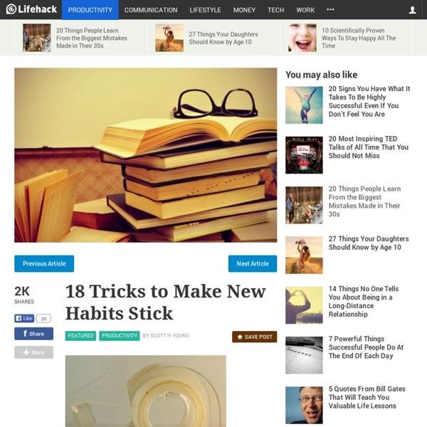 18 Tricks To Make New Habits Stick