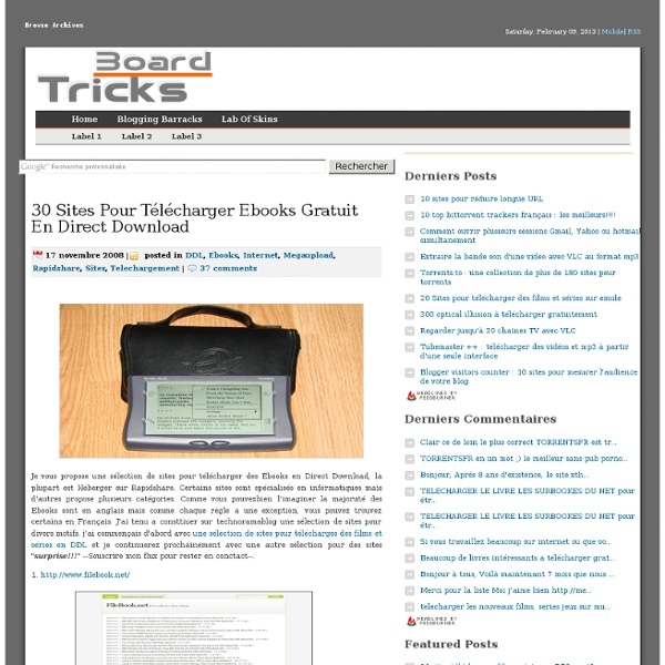 30 Sites pour Télécharger Ebooks gratuit en direct download