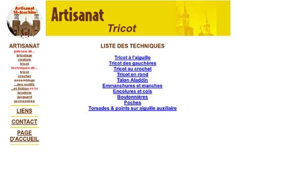 Tricot - Liste des techniques