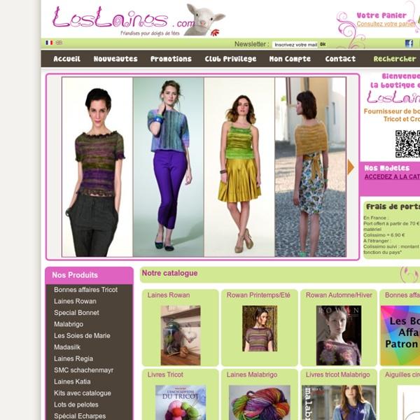 Katia Laine - Vente de laine a tricoter, patrons et accessoires tricots - Frais de port gratuits en France à partir de 70 euros - Solution eCommerce PEEL