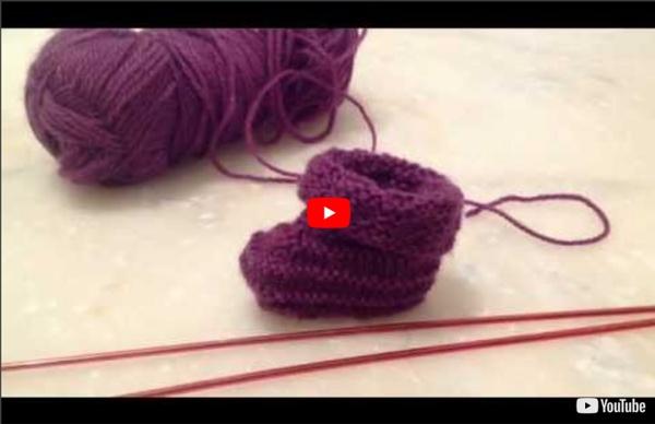 Comment tricoter des chaussons naissance en video d8e4378d8e5