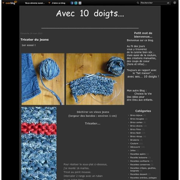Tricoter du jeans