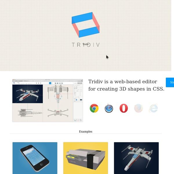 CSS 3D Editor