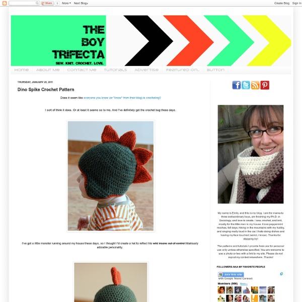 The Boy Trifecta: Dino Spike Crochet Pattern