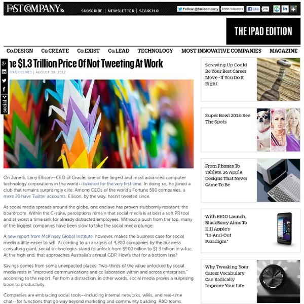 The $1.3 Trillion Price Of Not Tweeting At Work